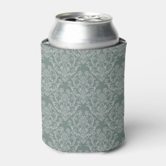 Green floral wallpaper can cooler
