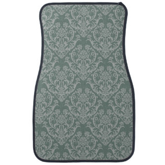Green floral wallpaper car mat