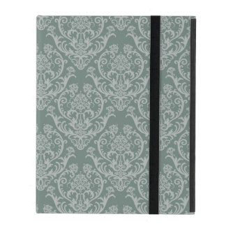 Green floral wallpaper iPad case