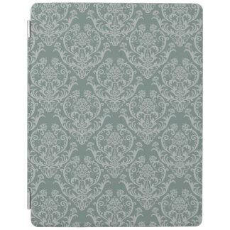 Green floral wallpaper iPad cover