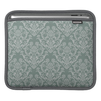Green floral wallpaper iPad sleeve