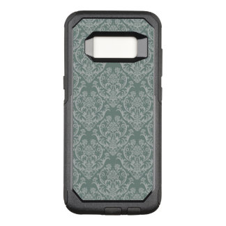 Green floral wallpaper OtterBox commuter samsung galaxy s8 case