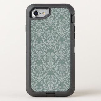 Green floral wallpaper OtterBox defender iPhone 7 case