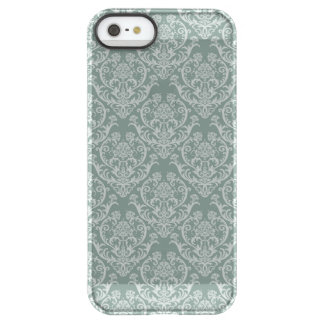 Green floral wallpaper permafrost® iPhone SE/5/5s case