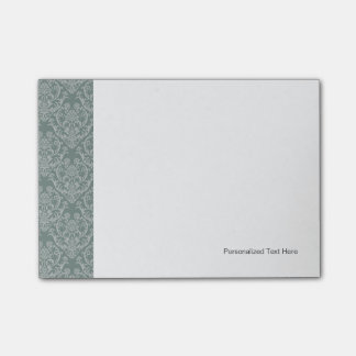 Green floral wallpaper post-it notes