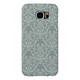 Green floral wallpaper samsung galaxy s6 cases