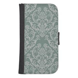 Green floral wallpaper samsung s4 wallet case