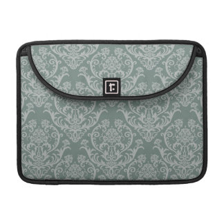 Green floral wallpaper sleeve for MacBooks