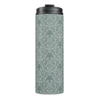 Green floral wallpaper thermal tumbler