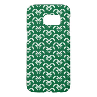 Green floral zigzag