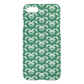 Green floral zigzag iPhone 8/7 case