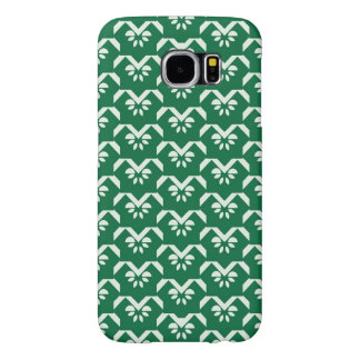 Green floral zigzag samsung galaxy s6 cases