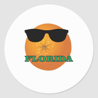 green Florida shades Classic Round Sticker