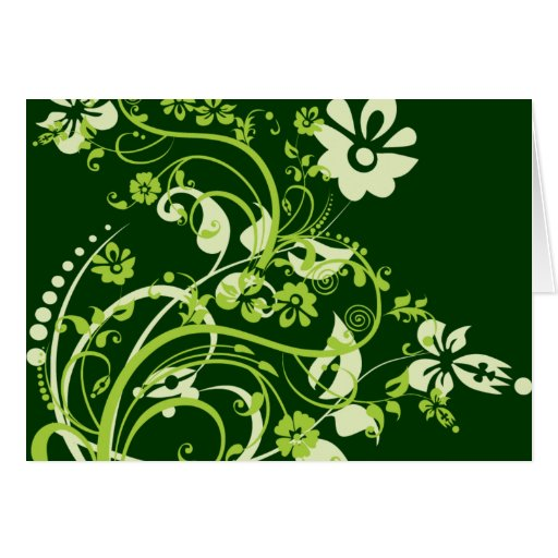 Green Flourish Card