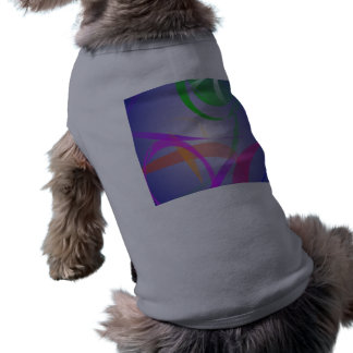 Green Flower Abstract Image Doggie Tee Shirt