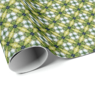Green Flower Abstract Pattern Wrapping Paper