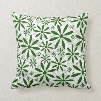 Green Flower Cushion