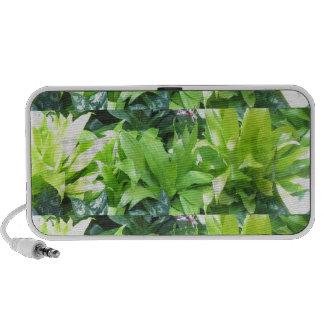 Green Flower Garden Elegant Spring Blossom iPod Speakers