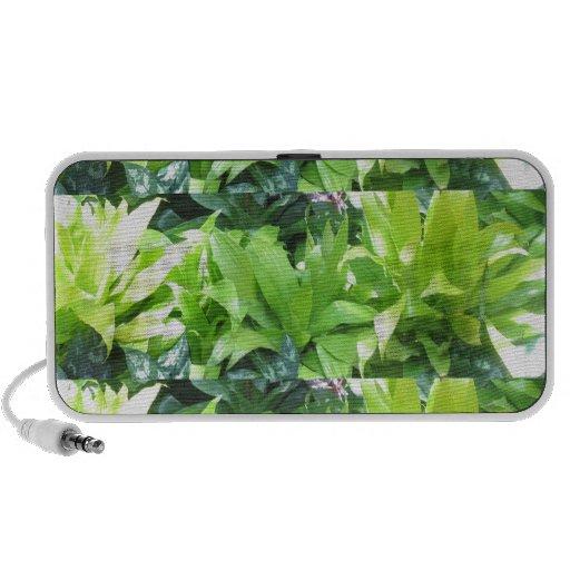 Green Flower Garden : Elegant Spring Blossom iPod Speakers