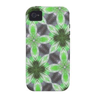 Green Flower Pattern iPhone 4/4S Case