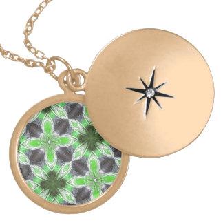 Green Flower Pattern Pendants