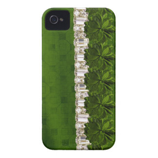 green Flower & Rhinestone IPhone barely there case iPhone 4 Cover