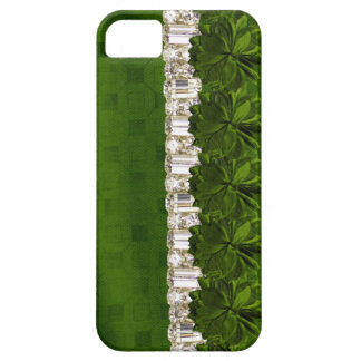 green Flower & Rhinestone IPhone barely there case Case For The iPhone 5