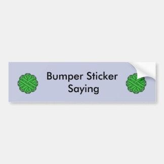 Green Flower Ribbon Bumper Sticker