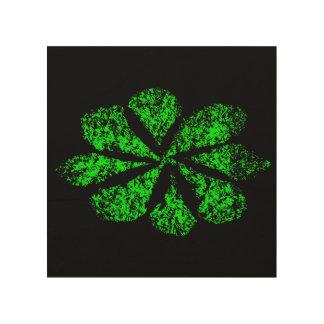 green flower wood prints