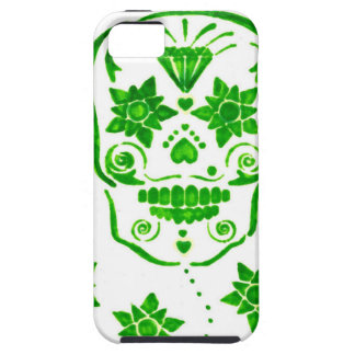Green Flowered Skull iPhone 5 Covers