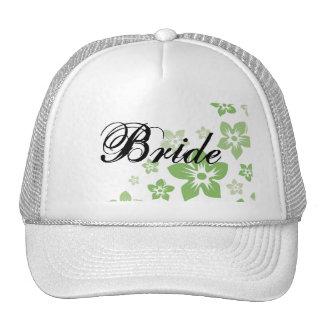 green flowers cap