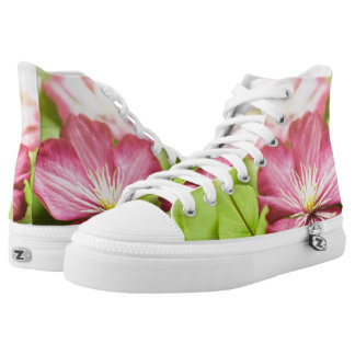 Green & flowers high tops