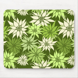 Green Flowers Mousepad