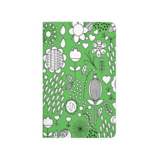 Green Flowers Pocket Journal