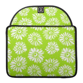 Green Flowers Rickshaw Flap Sleeve Sleeve For MacBook Pro