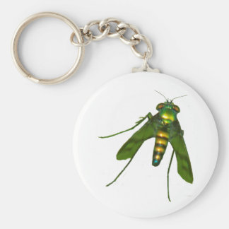 green fly keychain