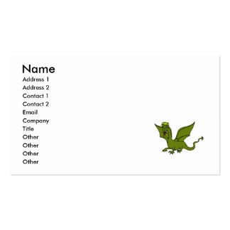 Green Flying Dragon Business Cards