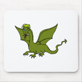 Green Flying Dragon Mouse Pad