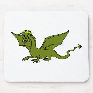 Green Flying Dragon Mousepad