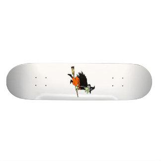 Green Flying Witch Custom Skateboard