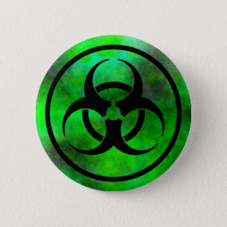 Green Fog Biohazard Symbol Button