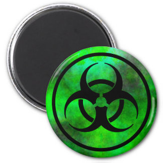Green Fog Biohazard Symbol Magnet