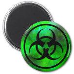 Green Fog Biohazard Symbol Magnet Fridge Magnet