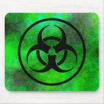 Green Fog Biohazard Symbol Mousepad