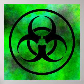 Green Fog Biohazard Symbol Poster