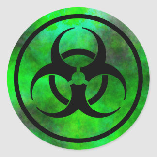 Green Fog Biohazard Symbol Sticker
