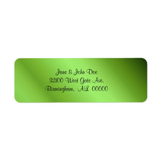 Green foil look Labels