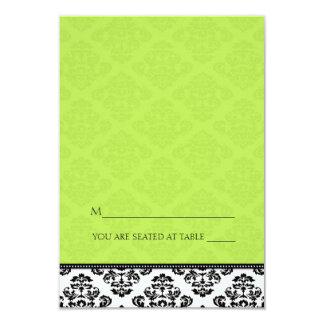 Green Folding Tent Damask Place Cards 9 Cm X 13 Cm Invitation Card