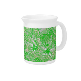 Green Foliage Pitcher