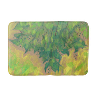 Green Foliage, summer greenery, nature Bath Mats